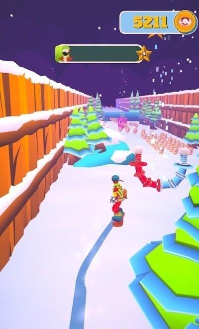 滑雪板大师3D游戏